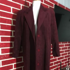 Vintage ultra suede trench coat